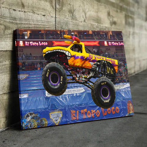 El Toro Loco Yellow Canvas
