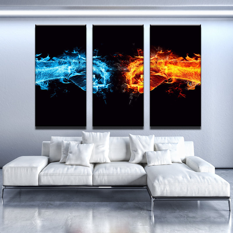 Fire vs Ice Boxing Canvas