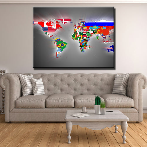 Flags of the Map Canvas