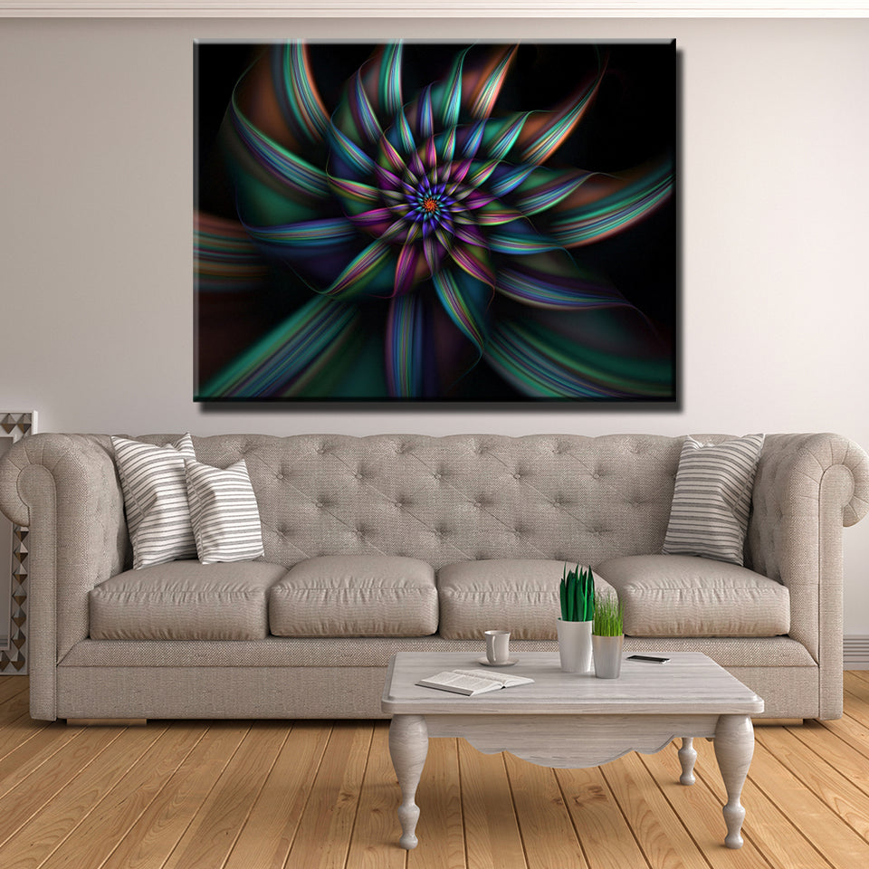 Illusional Flower Canvas