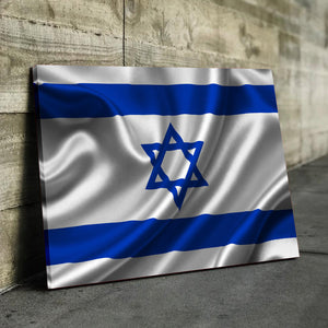 Israel Flag Canvas