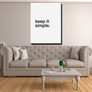Keep it Simple Canvas