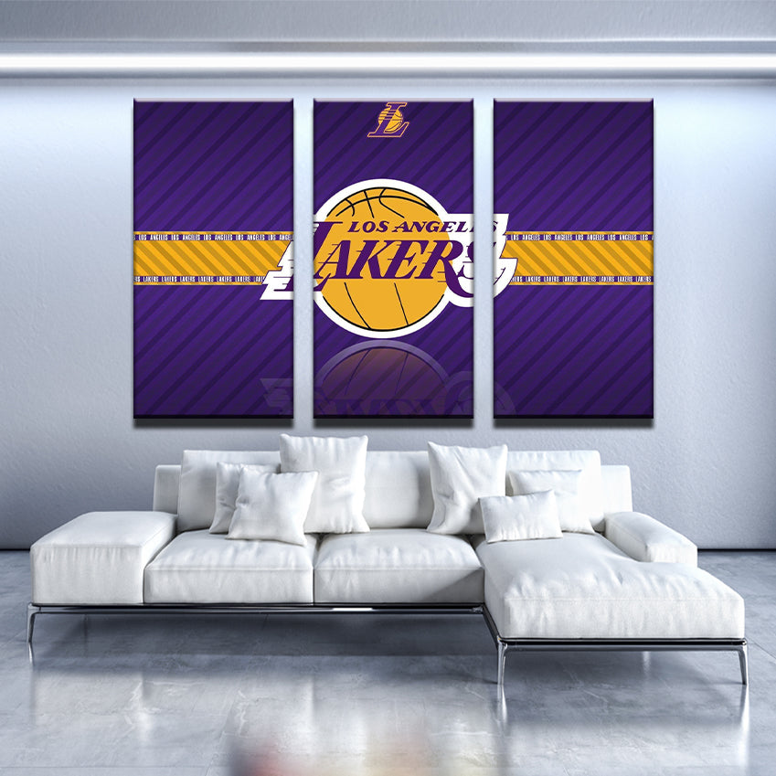 LA Lakers Purple Canvas