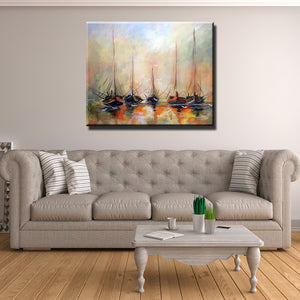 Sailboats in Venetian Waters Canvas