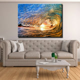 Sunset Waves Canvas