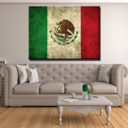 Mexico Flag Canvas