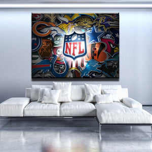 NFL Sports Team Canvas