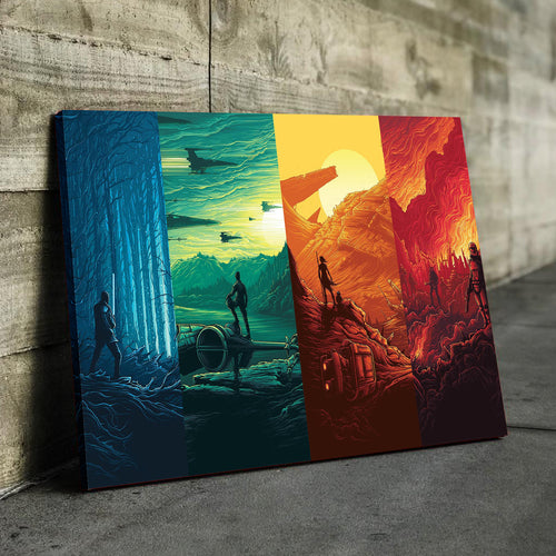 Rainbow Multi Verse Canvas