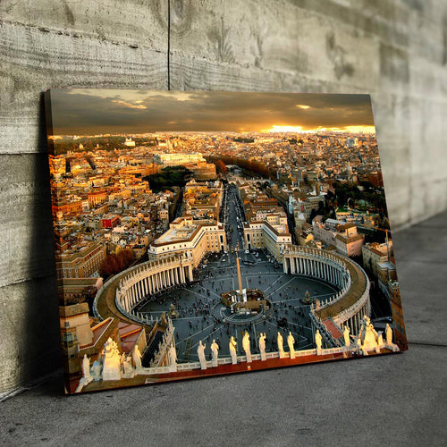 Vatican City Overview Canvas