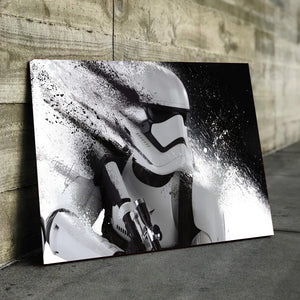 White Trooper Canvas