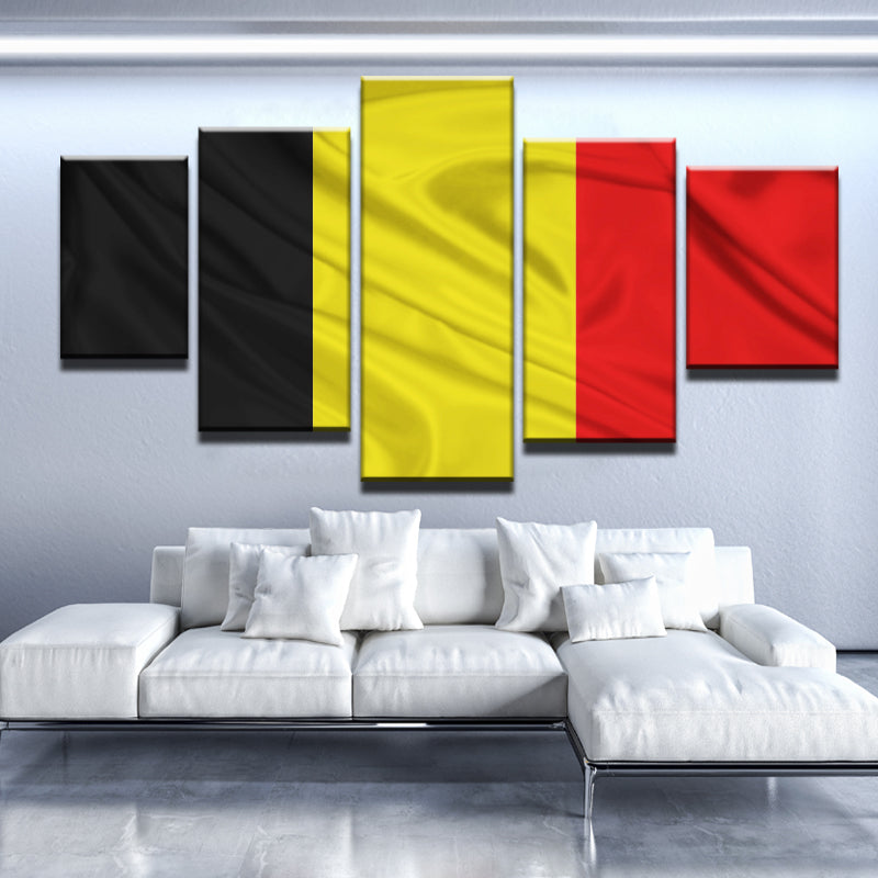 Belgium Flag Canvas