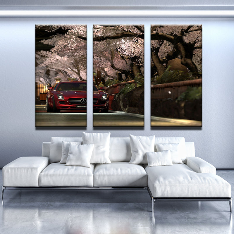 Cherry Mercedes Canvas