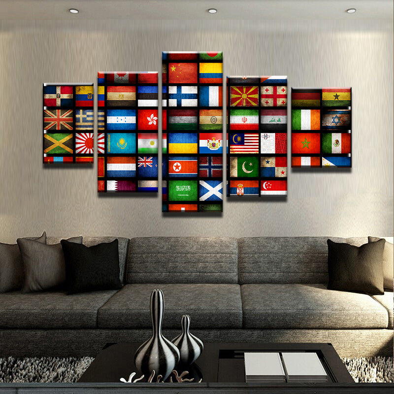 Flags of the World Canvas