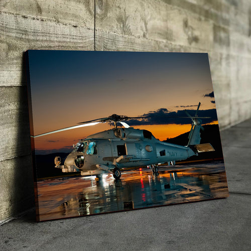 Navy Helicopter Canvas
