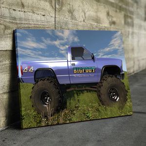 Big Foot Original Monster Truck Canvas