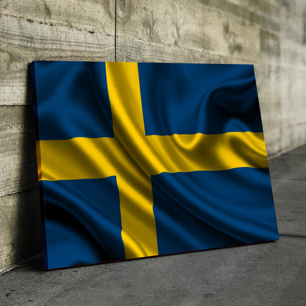 Sweden Flag Canvas