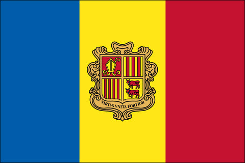 Andorra W/Seal (UN) Flag