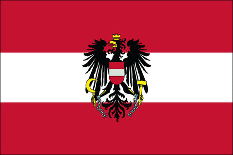 Austria Flag W/Eagle