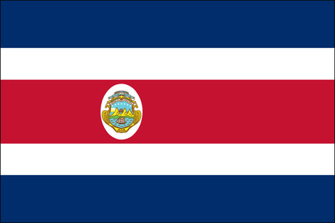 Costa Rica W/Seal (UN OAS) Flag