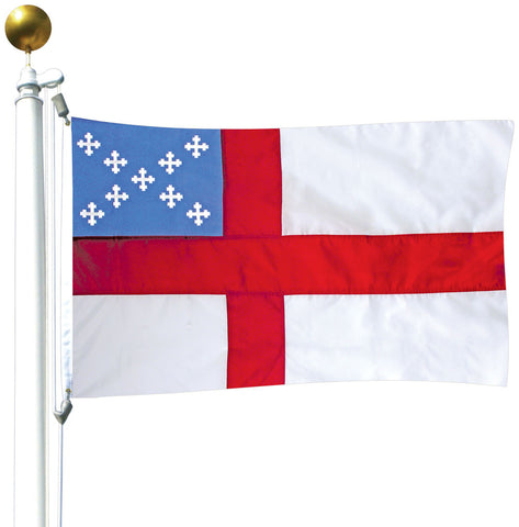 Episcopal Nylon Outdoor Flag with Canvas Header & Brass Grommets Flag Size: 5' x 8'