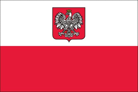 Poland (With Eagle) Flag