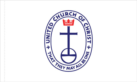 United Church of Christ Flag Indoor (No Fringe) with Pole Hem & Mounting Tabs Flag Size: 3' X 5'