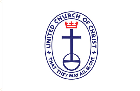 United Church of Christ Flag Outdoor with Canvas Header & Brass Grommets, Flag Size: 3' X 5'