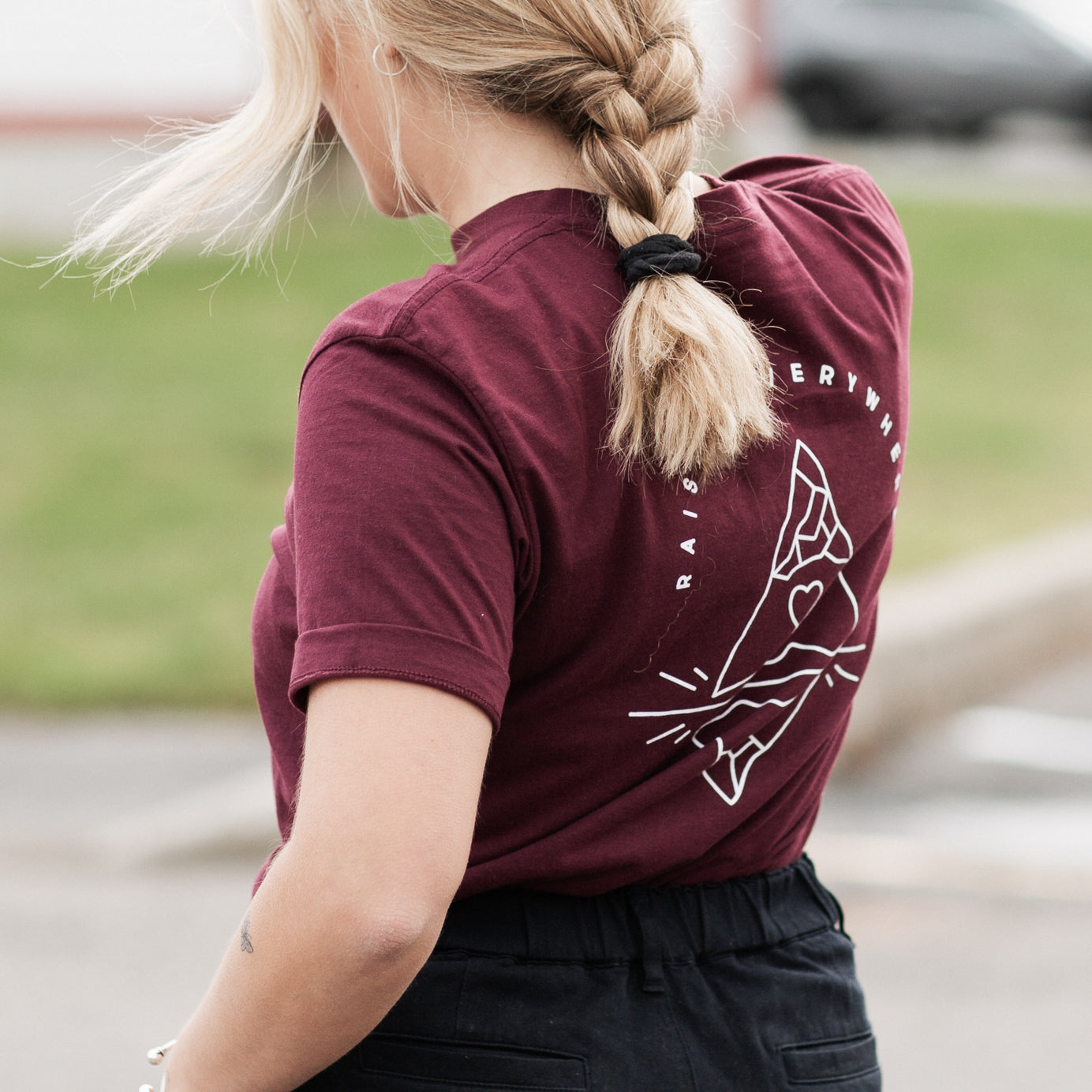 Burgundy | Mountain Art T-Shirt