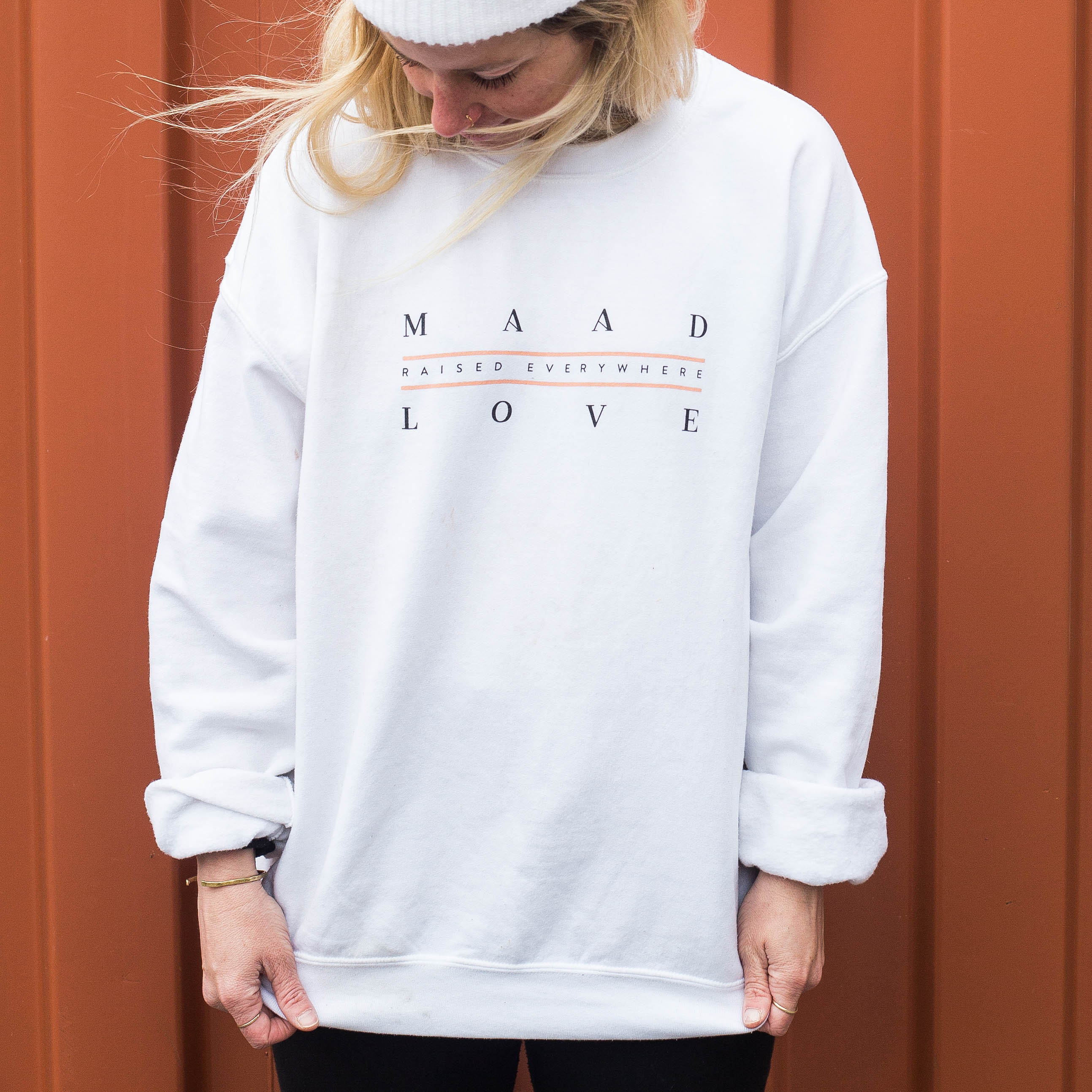 White | Raised Everywhere Crew Neck