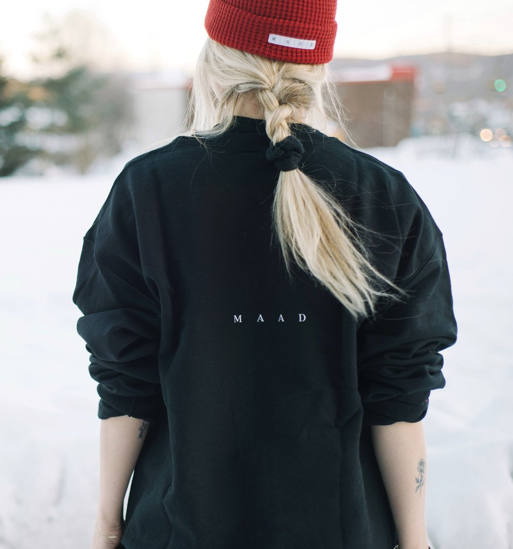 Black | Aime crew neck