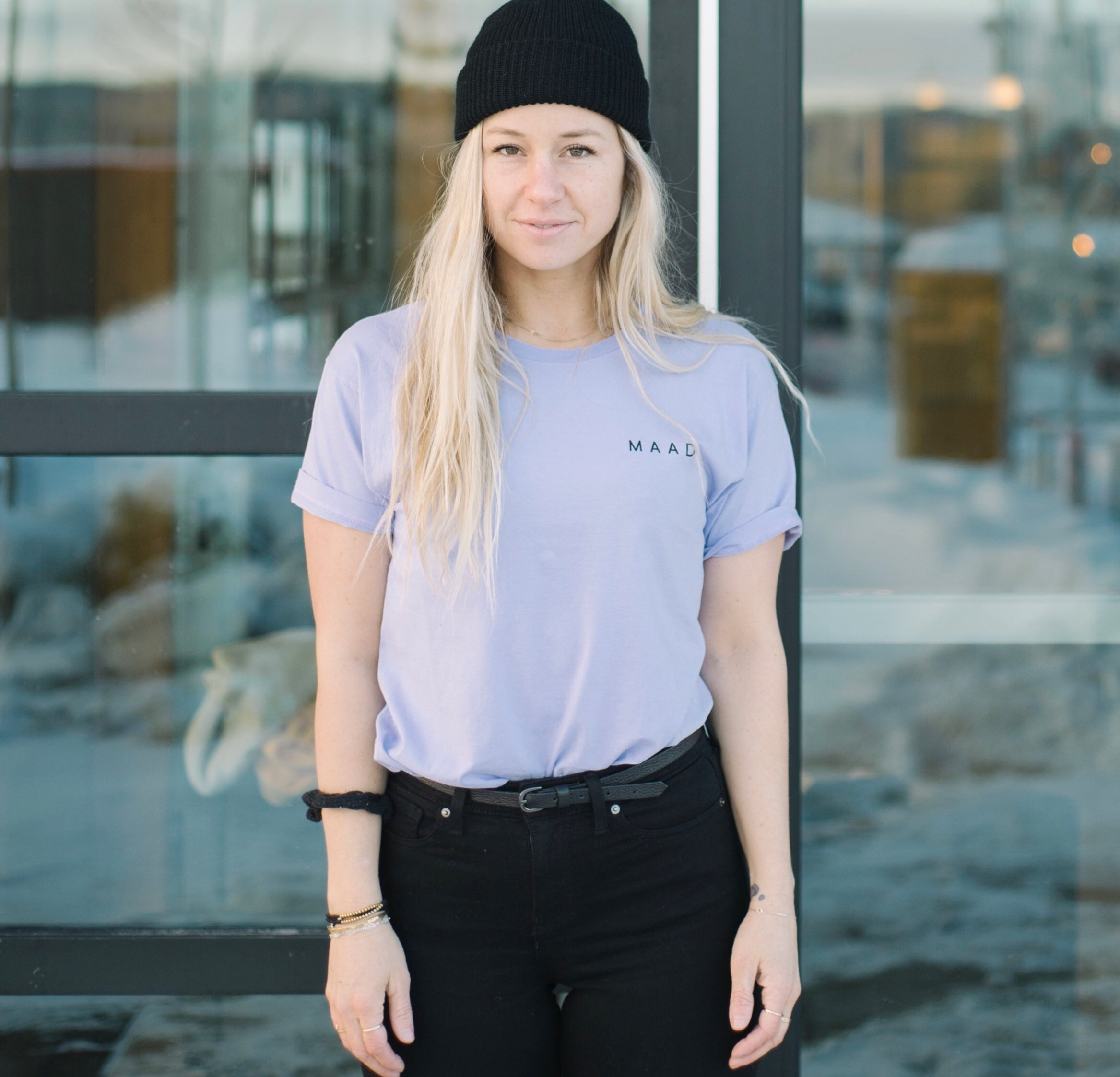 Peri Purp | Mountain Art T-Shirt
