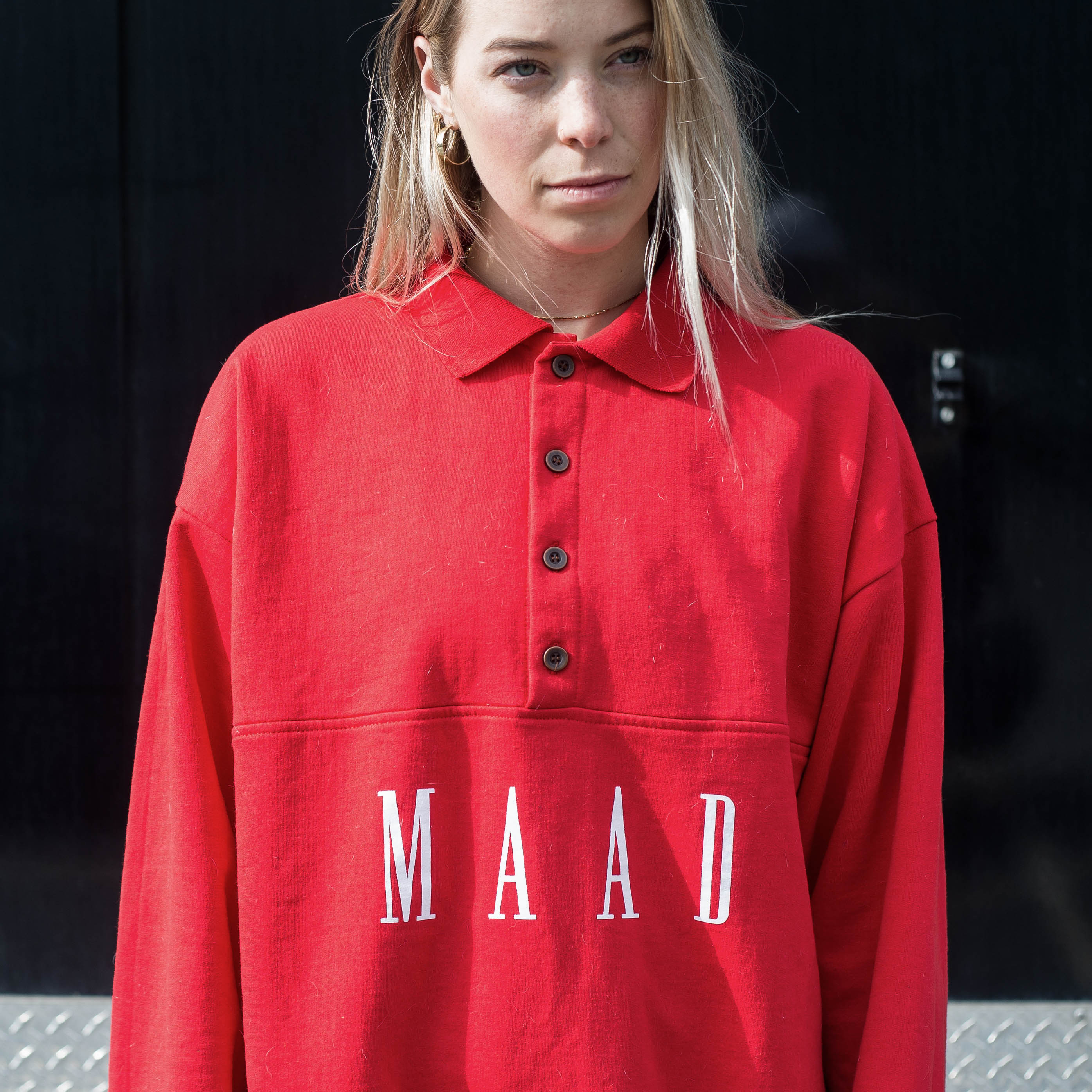 Red | EL Polo Pullover crew