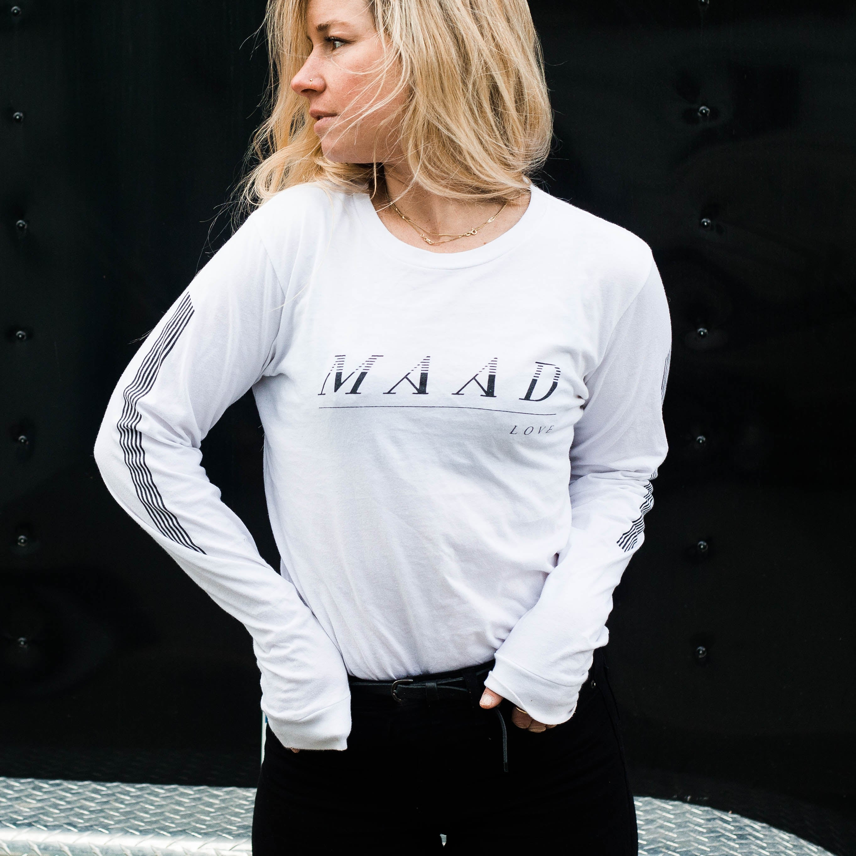 White | Maad Sports Long Sleeve