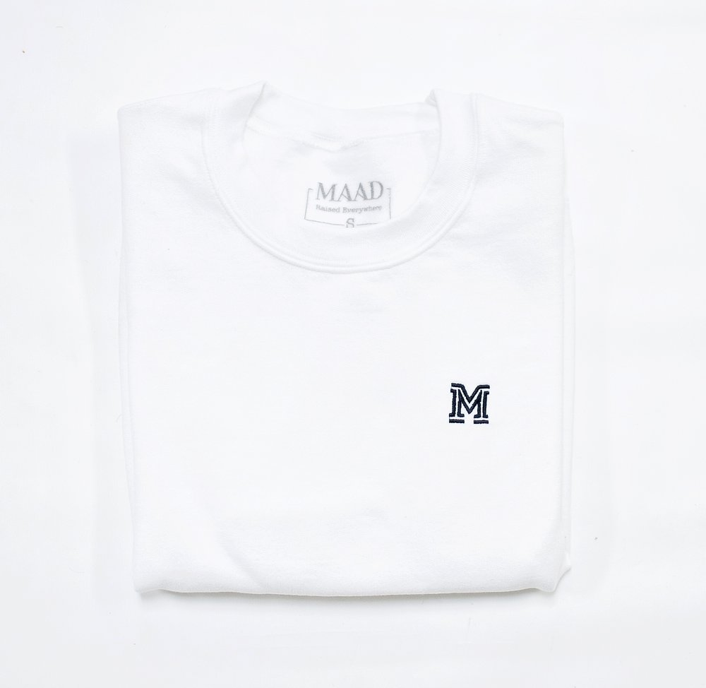 White | Aime crew neck