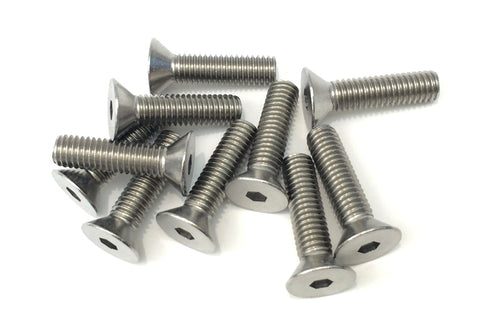 Stainless steel flat head bolts