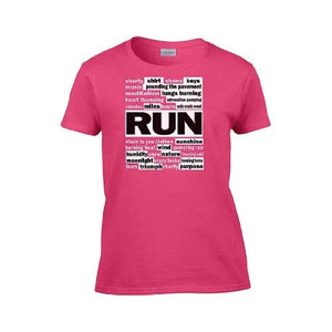 IamTee Womans The Many Sides of Running T-Shirt