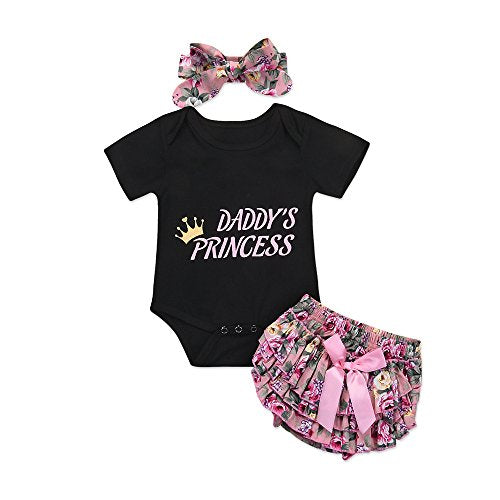 3 PCS. Newborn Baby Girl Romper