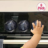 Baby Proof Clear Stove Knob Covers (5 Pack)