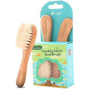 Eco-Friendly Safe Baby Hair Brush and Comb Set for Newborns & Toddlers