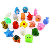 10-Pack Little Squirts Fun Bath Toys, Assorted Characters