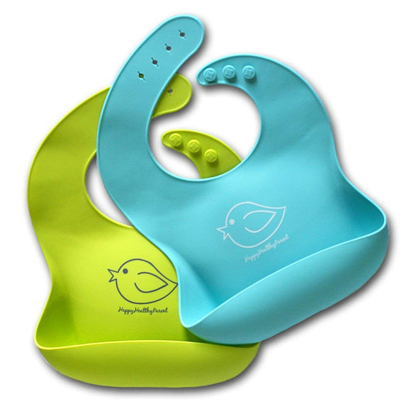 Waterproof Silicone Bib - Set of 2 Colors