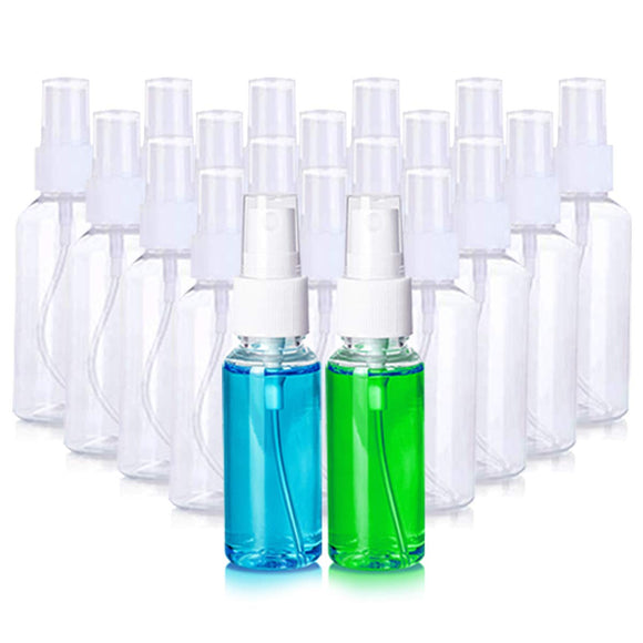 Monster Fight Gear - 20 Pack 3.4oz Small Plastic Clear Spray Bottles