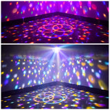 Allness Group Bluetooth Disco Ball Lights, 9 Colors LED Party Lights DJ Sound Activated Rotating Lights Wireless Phone Connection with Bluetooth Speaker MP3 Play and Remote for Home KTV Wedding Dance Show