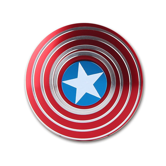 Captain America Metal Fidget Spinner - Spin 4-6 Minutes