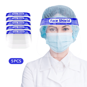 5 Value Pack Face Shields with Full Face Protection