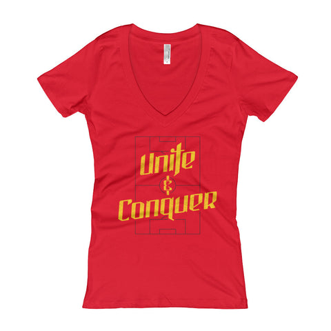 Unite & Conquer - Ladies' V-Neck t-shirt