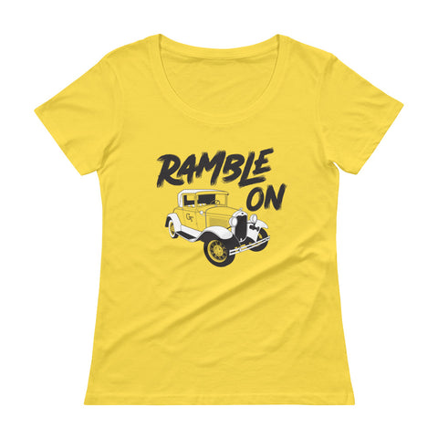 Ramble On - Ladies' scoopneck t-Shirt