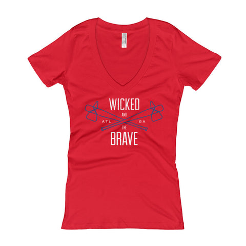 Wicked and the Brave - Ladies' V-Neck t-shirt