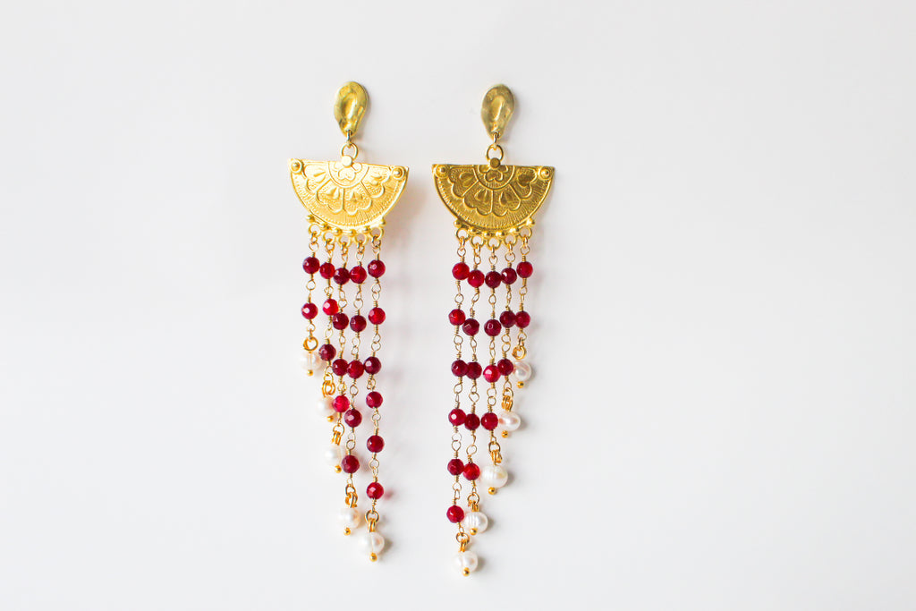 Earrings Miaconda Ruby