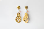 Earrings Melted Gold Airdrops Moonstones